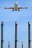 Aeroporto vicino piano Immagine Stock
