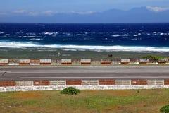 Aeroportos na ilha verde, Taiwan imagens de stock