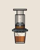AeroPress咖啡壶 图库摄影