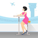 Aeropuerto ilustración del vector