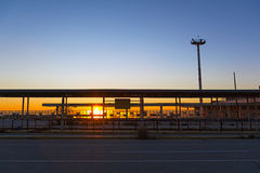 Aeropuerto abandonado Fotos de archivo libres de regalías
