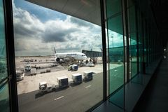 Aeropuerto Charles de Gaulle - París Foto de archivo