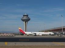 Aeropuerto de Adolfo Suarez en Madrid-Barajas Imágenes de archivo libres de regalías