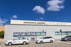 Aeropuerto de Alghero-Fertilia en la isla de Cerdeña, Italia Imagen de archivo libre de regalías