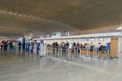 Aeropuerto de Charles de Gaulle fotografía de archivo libre de regalías