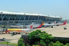 Aeropuerto de China Shangai Pudong Foto de archivo libre de regalías