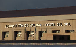 Aeropuerto de Costa del Sol en Málaga Foto de archivo libre de regalías