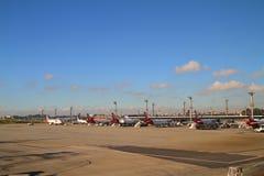Aeropuerto de Guarulhos - Sao Paulo - el Brasil Imagen de archivo libre de regalías