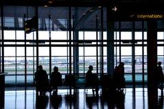 Aeropuerto de la gente Fotos de archivo
