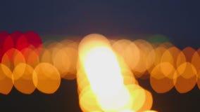 Aeropuerto de la pista de las luces de aterrizaje almacen de metraje de vídeo