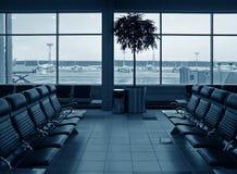 Aeropuerto de la sala de espera Fotos de archivo libres de regalías