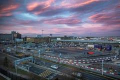Aeropuerto de Manchester foto de archivo libre de regalías