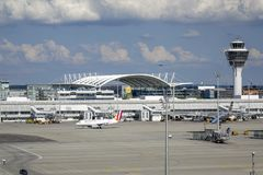 Aeropuerto de Munich, Baviera, Alemania imágenes de archivo libres de regalías