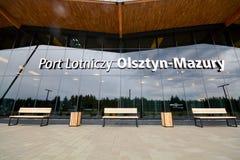 Aeropuerto de Olsztyn-Mazury Fotografía de archivo libre de regalías