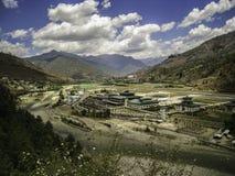 Aeropuerto de Paro - Bhután Imágenes de archivo libres de regalías