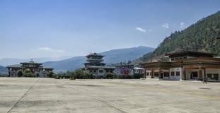 Aeropuerto de Paro, Bhután Fotografía de archivo libre de regalías