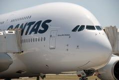 Aeropuerto de Qantas A380 Perth Imágenes de archivo libres de regalías