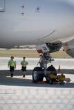 Aeropuerto de Qantas A380 Perth Fotografía de archivo