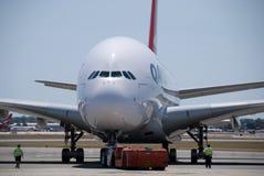 Aeropuerto de Qantas A380 Perth Imagen de archivo