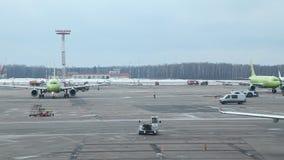 Aeropuerto 03 de Rusia, Moscú Aeroflot 03 17 almacen de video