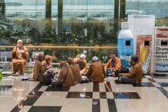 Aeropuerto de Singapur Changi - peregrinaje islámico a La Meca Foto de archivo