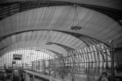 Aeropuerto de Suvarnabhumi. Imagen de archivo libre de regalías