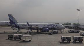 Aeropuerto de Tribhuvan en Katmandu, Nepal Imágenes de archivo libres de regalías