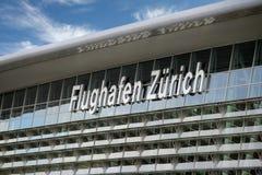 Aeropuerto de Zurich, Suiza fotos de archivo