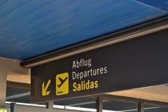 Aeropuerto del cartel Fotos de archivo libres de regalías