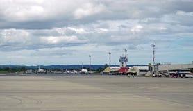 Aeropuerto den internationella Daniel Oduber Quiros LIR flygplatsen i Costa Rica Arkivbild