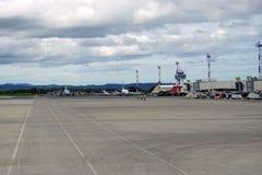 Aeropuerto den internationella Daniel Oduber Quiros LIR flygplatsen i Costa Rica Royaltyfria Bilder