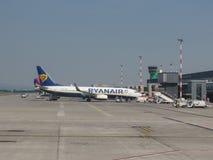 Aeropuerto en Bérgamo Orio Al Serio Imagen de archivo
