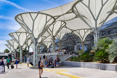 Aeropuerto en la fractura, Crotia Imagenes de archivo