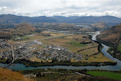 Aeropuerto en Queenstown, Nueva Zelandia foto de archivo