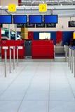 Aeropuerto/enregistramiento de las salidas Fotos de archivo libres de regalías