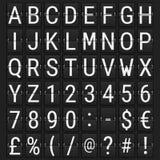 Aeropuerto Flip Board Panel Font mecánico ilustración del vector