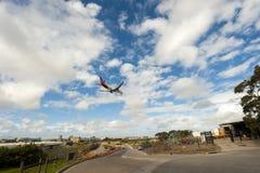 Aeropuerto inminente plano Sydney Fotografía de archivo