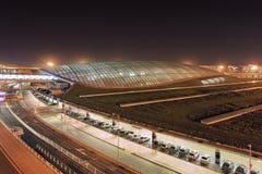 Aeropuerto internacional capital de Pekín, terminal del tren, China Imágenes de archivo libres de regalías