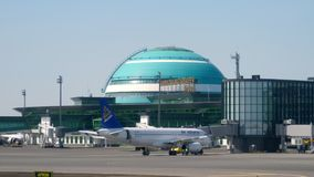 Aeropuerto internacional de Astaná almacen de video