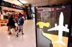 Aeropuerto internacional de Auckland Imágenes de archivo libres de regalías