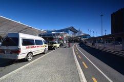 Aeropuerto internacional de Aukland En alguna parte en Nueva Zelandia Fotografía de archivo libre de regalías