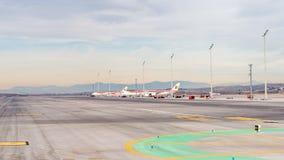 Aeropuerto internacional de Barajas, Madrid Imagen de archivo libre de regalías