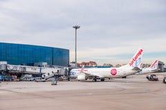 Aeropuerto internacional de Barajas, Madrid Imagenes de archivo