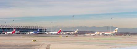 Aeropuerto internacional de Barajas, Madrid Fotografía de archivo libre de regalías