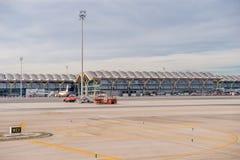 Aeropuerto internacional de Barajas, Madrid Foto de archivo