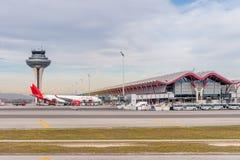 Aeropuerto internacional de Barajas, Madrid Imagen de archivo