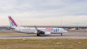 Aeropuerto internacional de Barajas, Madrid Fotos de archivo
