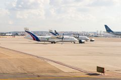 Aeropuerto internacional de Barajas, Madrid Imágenes de archivo libres de regalías
