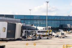 Aeropuerto internacional de Barajas, Madrid Fotografía de archivo