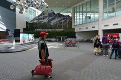 Aeropuerto internacional de Christchurch - Nueva Zelanda fotografía de archivo libre de regalías